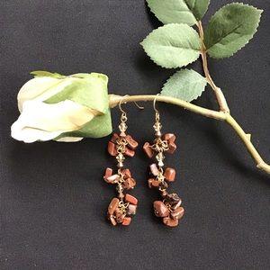 3/$15 SALE - Brown Dangle Earrings
